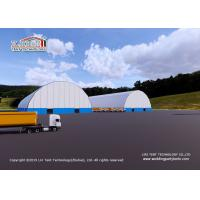 Quality Durable Warehouse Storage Tent With PVC Cover Wind Load 100km/H for sale
