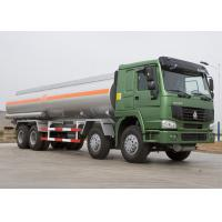 Quality 25 CBM Lpg Tanker Truck , HOWO Four Axles 371HP Fuel Oil Delivery Truck for sale