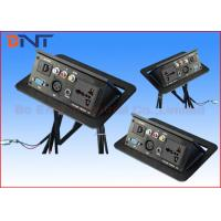 Quality Conference Pneumatic Table Pop Up Plug Socket Boxes With Microphone Connector for sale