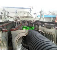 Quality HDPE and PVC Double Wall Corrugated Pipe Extrusion Line with PLC control for sale