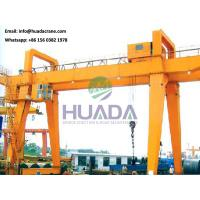 Quality 50 ton double beam gantry crane with operator cabin control,  factory price for sale