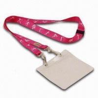 Quality Dye Sublimation Lanyard w/ PVC Badge Holder, Swiveled Hook and Safety Break, Heat-transfer Printing for sale