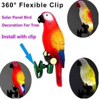 China Solar Powered Lights For Yard, IP44 Waterproof Parrot LED Road Light with Clip on sale