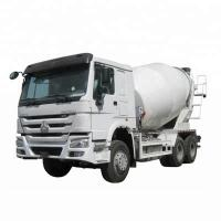 Quality Compact Front Discharge Concrete Truck , HOWO Mixer Truck 8 Cbm Capacity for sale
