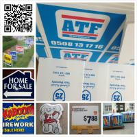 Quality 24x18 3mm 4mm coroplast sign/ real estate sign/ lawn sign / corflute sign for sale