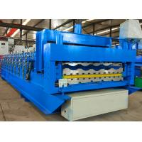 Quality Automatic Roofing Sheet Roll Forming Machine Double Layer Corrugated For Building for sale