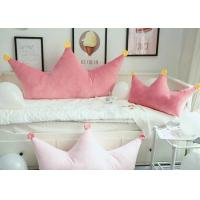 China Super Soft Cute Plush Pillows / Princess Crown Shaped Pillow Color Customized on sale