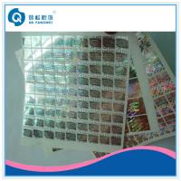 China Laser Customized Hologram Security Sticker , VOID Holographic Labels Roll on sale