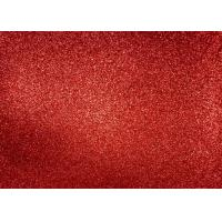 Quality Magenta Red Glitter Fabric For Dresses , Cold Resistance Shiny Glitter Fabric for sale