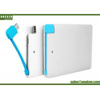 Quality Ultra Slim Power Bank 2500mAh Credit Card  With Built in Cable For Iphone 5V / 1A for sale