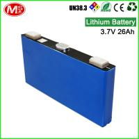 Quality High discharge rechargeable lithium ion battery 3.7V 26Ah lithium battery for solar system for sale