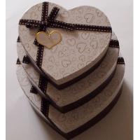 Quality Heart shaped Decorative Luxury Recycled Gift Paper Box , Cream Paper Box For Chocolate for sale