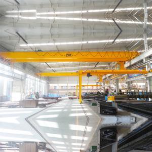 Quality 2T Single Girder Bridge Overhead Crane For Factories Material Stocks Workshop for sale