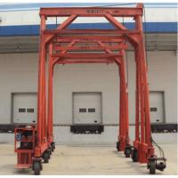 Buy cheap Red Steel Standard Mobile Container Crane , Port Gantry Crane Container Handling from wholesalers