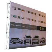 Easy Installation Trade Show Backdrop Displays Folding Banner Stand Smooth Surface