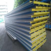 China corrugated blue color steel roofing sheet glass wool sandwich roof  panel for 20ft container house on sale