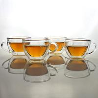Quality clear glass mug for beer juice coffee for sale