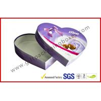 Quality Heart-Shape Lecote Chocolate Gift Packaging Boxes With Food Grade Printing , 157G Coated Paper Boxes for sale