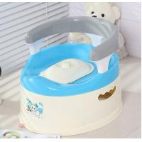 Quality Plastic training baby toilet with handle for sale