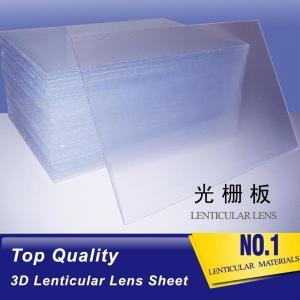 Quality 2021 hot sale 20 LPI lens sheet lenticular  for making flip lenticular effect by injekt printer or desktop printer for sale