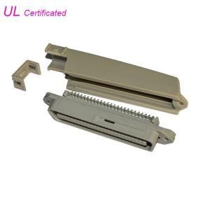 Quality Tyco 90 Degree 50 Pin Solder Centronic Plug Connector With Plastic Cover Certificated UL for sale