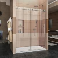 Quality Toughened 10mm thickness glass frameless style sliding shower enclosure for sale