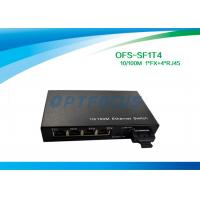 Quality Optical 4 Port Ethernet Switch 10 / 100BASE - Tx 100BASE - Fx 125×27×85 mm for sale