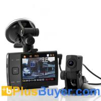 China 720p Dual Camera HD Car DVR (3.5 Inch Screen, H.264) on sale
