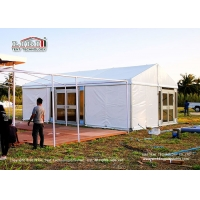Quality Clean Span Outdoor Event Party Wedding Marquee Tent With Glass Door for sale