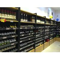 Quality Wine Display Rack Light Duty Shelving Wall Mounted 1200mm * 400mm * 2200mm for sale
