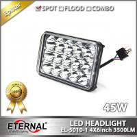 Quality 45W 4x6in led sealed headlight with out mount universal for off-road pick-up truck 4x4 cars trailer driving headlamp H4 for sale