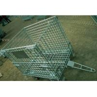 Buy cheap Cargoes Transport Heavy Duty Foldable Wire Container With Connector / Four from wholesalers
