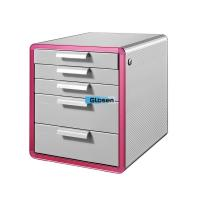 Quality Five Drawers Alumnium File Cabinet / Colored Secure Filing Cabinet For School for sale