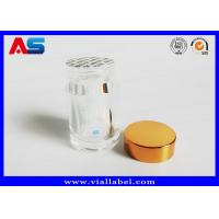 Quality Recycle Pharmacy Prescription Clear Pill Bottles / Tablet Plastic Pots To Install 100 Tablets for sale