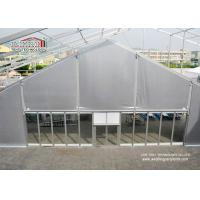 Quality 25m Span TFS Marquee Tent Silvery PVC Flame Retardant Roof for 1000 Person Outdoor Events for sale