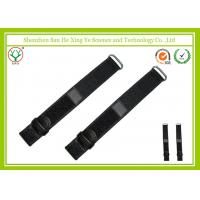 China 20mm Black Nylon Watch Band Waterproof With Debossed Logo on sale
