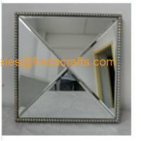 Quality Zhejiang Supplier Small Size Square Shaple Elegant Resin Decorative Wood Wall Mirror for sale