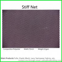 50D Polyester Hexagon Mesh Fabric for Gift Packingwith 72 inch in Width