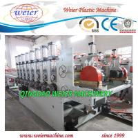 Quality PVC + Wood Powder Plastic Board Production Line OMRON Control for sale