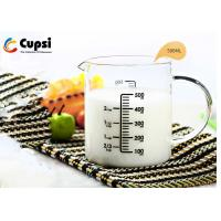 Buy cheap 50ml Intervals Scale Glass Measuring Cup High Borosilicate 2 Cup Capacity from wholesalers