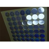 Quality Die Cut Round Security Hologram Sticker Pantone Colors Various Designs for sale
