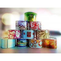 Quality Scented Tin Candles, Garden Party Round Pop-top Can for sale