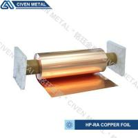 Buy cheap 650mm wide width HP-RA copper foil C11000 with high conductivity in roll ISO9001/SGS from Wholesalers
