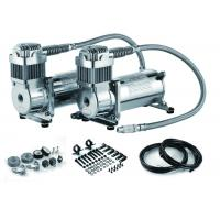 Silver Steel Dual Packs Air Suspension Pump For Strong Power And Fast Inflation