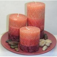 Quality Snakeskin layered decorative scented candles for souvenir for sale