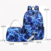 Quality 3 - piece combination Nylon Student Leisure Sports Outdoor School Bag for sale