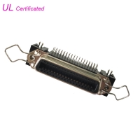 Quality 14 24 36 50 Pin Centronic PCB Right Angle Female Receptacle Connector with Bail Clip and Board Lock for sale