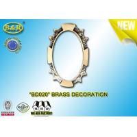 Quality Ref .BD020 Brass Decoration Metal Tombstone Frame Material Copper Alloy for sale
