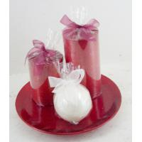 Quality Natural Scented Candle Gift Sets Pillar and Ball Home Decor for sale