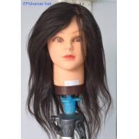 Quality PVC Hairdressing Training Female Mannequin Head with Hair Length 16 - 24 for sale